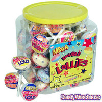 Mega Double Lollies: 60-Piece Tub | CandyWarehouse.com Online Candy Store