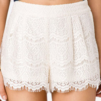 High-Waisted Eyelash Lace Shorts | FOREVER 21 - 2038551724