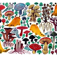 Mushrooms & Slugs Sticker Sheet