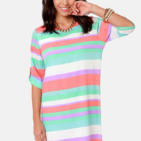 Full Streamers Ahead! Striped Shift Dress