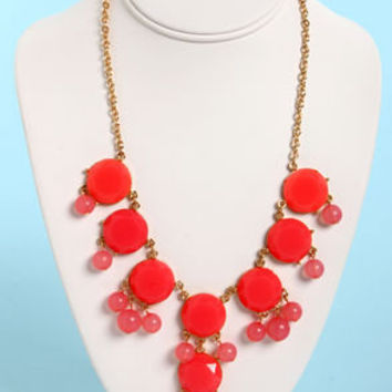Bauble-y's World Coral Statement Necklace