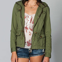 ASHLEY Studded Womens Anorak Jacket