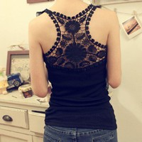 Cute lace hollow out tank from Girlsfriend