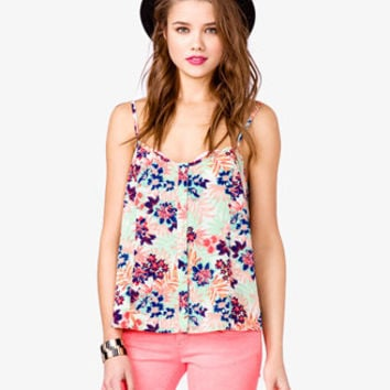 Abstract Floral Tank