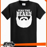 Fear The Beard - Brian Wilson - SF San Francisco Giants - T Shirt - Black