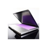 "TopCase Solid PURPLE Keyboard Silicone Cover Skin for Macbook 13"" Unibody / Macbook Pro 13"" 15"" 17"" with TOPCASE® Logo Mouse Pad"
