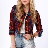 Gypsy Junkies Demi Print Denim Jacket