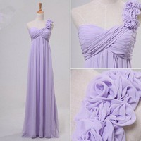 Gorgeous fantasy fairy One-shoulder Floor Length Prom Dresses