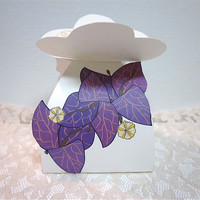 Bougainvilleas Favor Box 25 Purple Wedding favor box by katikamade