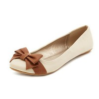 Contrast Bow Ballet Flat: Charlotte Russe