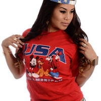 New Jack City USA Mickey Mouse Tee