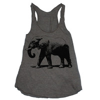 Womens ELEPHANT american apparel TriBlend Racerback by happyfamily