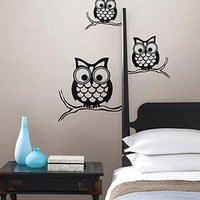 Give a Hoot Owl Decal - Wall