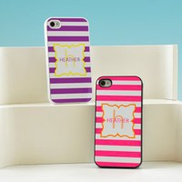 Modern Stripes Personalized iPhone Cases - 4 Color Options