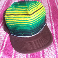 Hand stitched Trucker Hat - Mexican Blanket- Adult