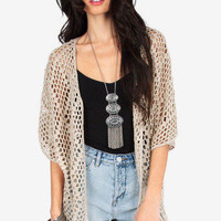 Angela Fringe Open Cardigan $39