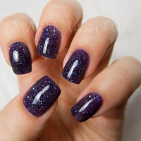 Witch Way Nail Polish - Purple Holographic Nail Lacquer 0.5 oz Full Sized Bottle