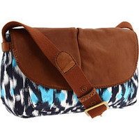 Lucky Brand Ikat Flap Crossbody Blue Multi - 6pm.com