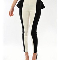 Double Trouble Peplum Skinnies