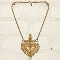 Free People  Vintage Gold Plated Necklace at Free People Clothing Boutique