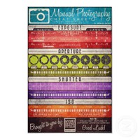 Manual Photography Cheat Sheet Print