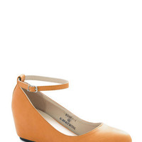 Take a Stride With Me Wedge in Mustard | Mod Retro Vintage Wedges | ModCloth.com