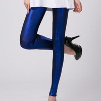 Diamond Blue Metallic Legging