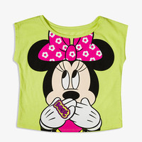 Glittered Minnie Mouse Tee | FOREVER 21 - 2035216583