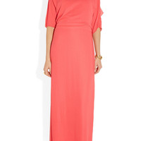 Halston Heritage | Draped-back washed-georgette gown | NET-A-PORTER.COM