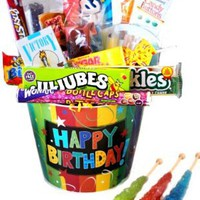 Happy Birthday Bucket Nostalgic Candy Gift: Amazon.com: Grocery & Gourmet Food
