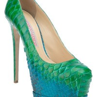 Gianmarco Lorenzi Python Skin Pump - Biondini - farfetch.com