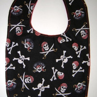 Toddler Bib Boy Pirate by MooreHomemadeDesigns on Etsy