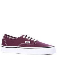 The Vans Authentic in Blackberry/Wine