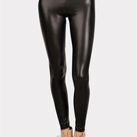 Lucas Matte Shiny Leggings - Black