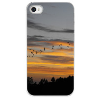 iPhone 4 /4S case Flying South birds clouds by SkyeZPhotography