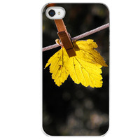 iPhone 4 /4S case Laundry Day leaf leaves by SkyeZPhotography