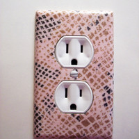 Pink Python Outlet Plate, wall decor switch plate