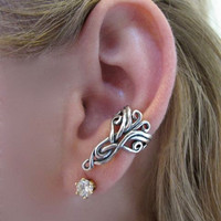 Silver Arabesque Ear Cuff by martymagic on Etsy