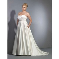 Sweetheart satin bridal gown