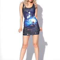 Galaxy Blue Dress | Black Milk Clothing