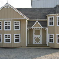 Hand-Crafted Victorian Mansion Playhouse with Floor Kit Freight Included 8&#x27;x16&#x27;