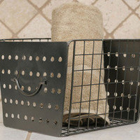 Industrial Metal Basket â?? French Seaside Cottage Decor ~ Boutique de la Mer