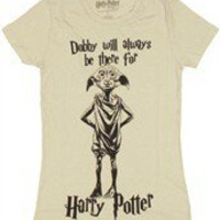 Harry Potter Dobby Will Always Be There Baby Doll Tee by Stylin Online - Teenormous.com
