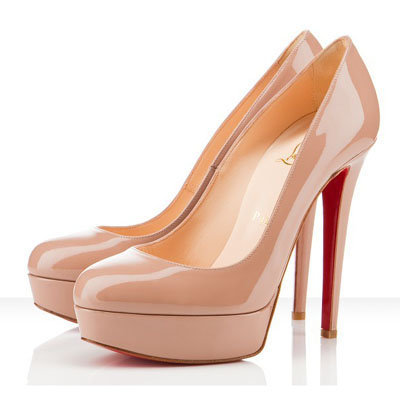 Christian Louboutin Bianca 140mm Platform Pumps Nude