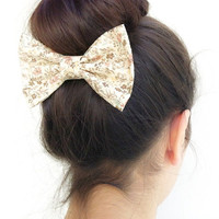 floral BIG hair bow (S-N-004)