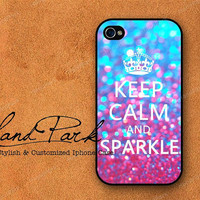 Keep calm and Sparkle iPhone 4 Case iPhone 4s Case by HandPark