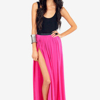 Gypsy Junkies Oceana High-Slit Maxi Skirt $124