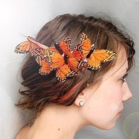 cocoon  butterfly hair comb by whichgoose on Etsy