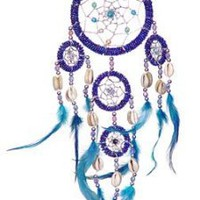 "Amazon.com: DREAMCATCHER - BEADED BL-BL FEATHERS 3.5""DIA: Home & Kitchen"