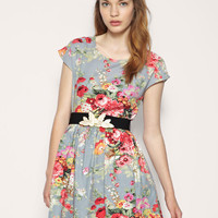 Dahlia Dress In Rose Print at ASOS